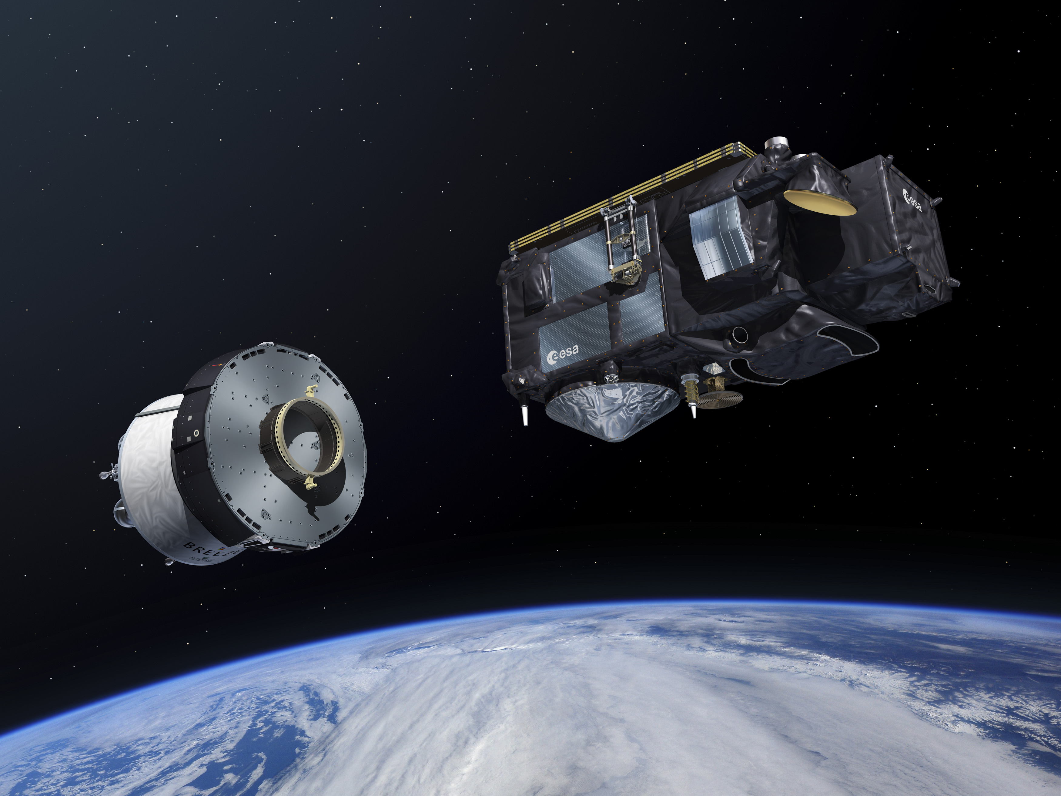 Sentinel-3B sseparating from Breeze Upper stage © ESA